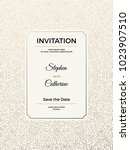 vintage wedding invitation... | Shutterstock .eps vector #1023907510