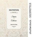 vintage wedding invitation... | Shutterstock .eps vector #1023907513