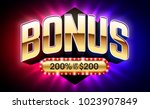 welcome bonus casino banner ... | Shutterstock .eps vector #1023907849