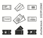 ticket vector icons set. black... | Shutterstock .eps vector #1023913060