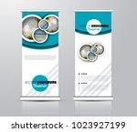 roll up template. vertical... | Shutterstock .eps vector #1023927199