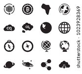solid black vector icon set  ... | Shutterstock .eps vector #1023928369