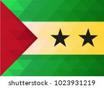 sao tome and principe flag... | Shutterstock .eps vector #1023931219