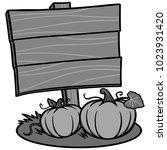 fall festival sign illustration ... | Shutterstock .eps vector #1023931420