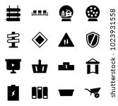 solid vector icon set   sign...   Shutterstock .eps vector #1023931558