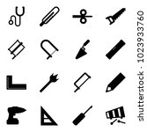 solid vector icon set  ... | Shutterstock .eps vector #1023933760