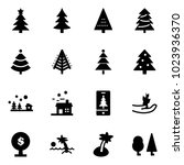 solid vector icon set  ... | Shutterstock .eps vector #1023936370
