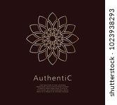 golden vector logotype.... | Shutterstock .eps vector #1023938293