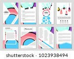 abstract vector layout... | Shutterstock .eps vector #1023938494