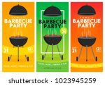 lovely vector barbecue party... | Shutterstock .eps vector #1023945259