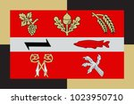 flag of eich is a municipality... | Shutterstock .eps vector #1023950710