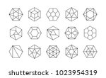 set of lined isometric... | Shutterstock .eps vector #1023954319