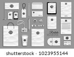 corporate identity template set.... | Shutterstock .eps vector #1023955144