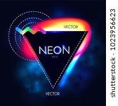 abstract trendy shining neon... | Shutterstock .eps vector #1023956623
