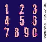 element  set of ten numbers... | Shutterstock .eps vector #1023964888