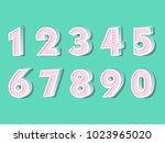 element  set of ten numbers... | Shutterstock .eps vector #1023965020