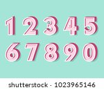 element  set of ten numbers... | Shutterstock .eps vector #1023965146