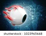 3d rendering human eye structure | Shutterstock . vector #1023965668