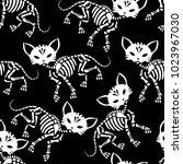 seamless pattern. cute... | Shutterstock .eps vector #1023967030