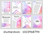 abstract vector layout... | Shutterstock .eps vector #1023968794