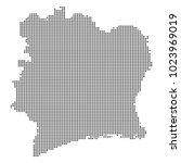 pixel mosaic map of ivory coast ...