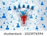 3d rendering dollar network... | Shutterstock . vector #1023976594