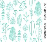 hand drawn seamless pattern... | Shutterstock .eps vector #1023985270
