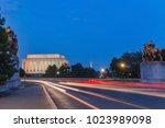 lincoln memorial at night. seen ... | Shutterstock . vector #1023989098