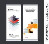 roll up business banner design...   Shutterstock .eps vector #1023992758