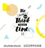 the trouble is you think you... | Shutterstock .eps vector #1023994348