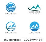 nature mountain logo design | Shutterstock .eps vector #1023994489