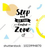 step out of the comfort zone.... | Shutterstock .eps vector #1023994870