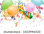 noisemakers  streamers and... | Shutterstock . vector #1023996520