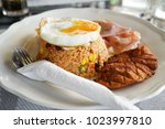 american style fried rice.... | Shutterstock . vector #1023997810