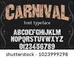 vintage font typeface... | Shutterstock .eps vector #1023999298
