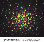 colorful confetti of stars and... | Shutterstock .eps vector #1024002634