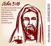 jesus christ  the son of god ... | Shutterstock .eps vector #1024002820