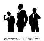 the vector of businessman team... | Shutterstock .eps vector #1024002994