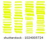 vector yellow highlighter brush ... | Shutterstock .eps vector #1024005724