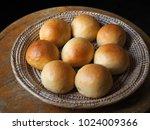 Bread Rolls In Basket.