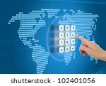 concept of security and... | Shutterstock . vector #102401056