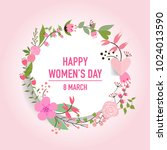 international happy women's day.... | Shutterstock .eps vector #1024013590
