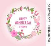 international happy women's day....   Shutterstock .eps vector #1024013590