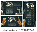 poster and beer price menu with ... | Shutterstock .eps vector #1024017868