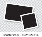 realistic photo frames  vector... | Shutterstock .eps vector #1024023418