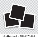 realistic photo frames  vector... | Shutterstock .eps vector #1024023424