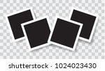 realistic photo frames  vector... | Shutterstock .eps vector #1024023430