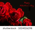 red roses bouquet closeup on... | Shutterstock . vector #1024026298