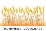 a set of spikelets of golden... | Shutterstock .eps vector #1024026436