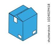 cardboard box open | Shutterstock .eps vector #1024029418